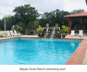 Mayan Dude ranch swimming pool