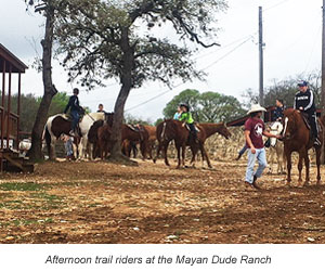 Trail riders at Mayan Dude ranch