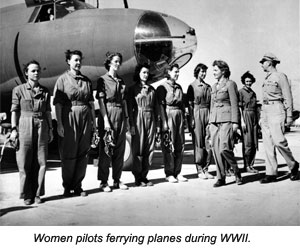 Women ferrying planes during WWII
